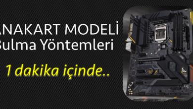 Anakart Modeli Bulma Yöntemleri