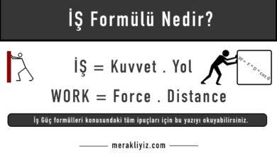iş formülü