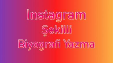 Instagram şekilli biyografi yazma